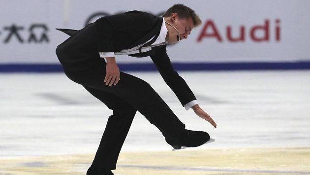 Český krasobruslař Michal Březina na Čínském poháru.