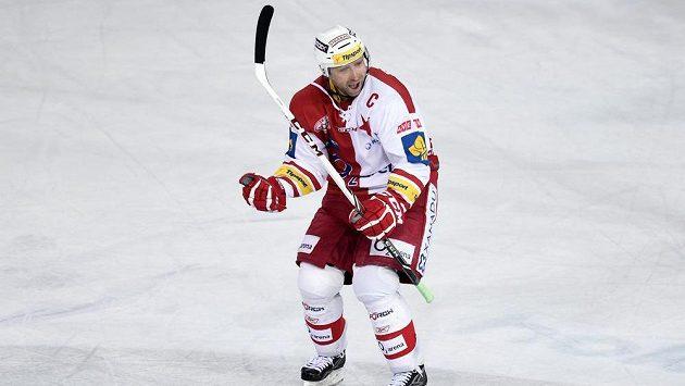 Slávista Jaroslav Bednář slaví svůj gól, kterým v poslední minutě rozhodl derby na Spartě.