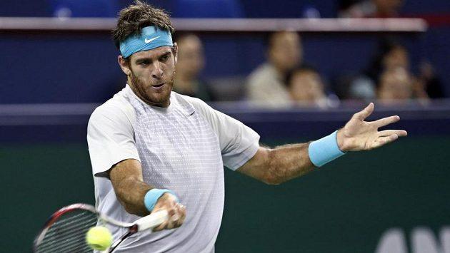 Argentinský tenista Juan Martín Del Potro v utkání proti Rafaelu Nadalovi.