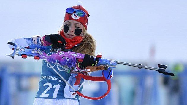 Česká biatlonistka Markéta Davidová má za sebou povedený olympijský start.