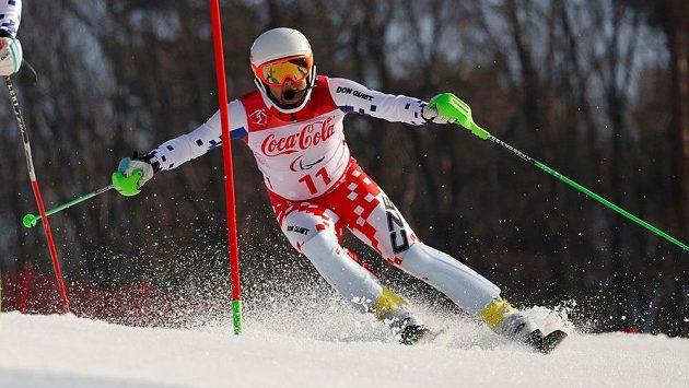 Lyžař Patrik Hetmer na paralympijských hrách v Pchjongčchangu.