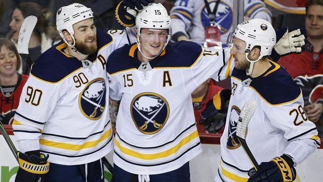 Gólová radost hokejistů Buffala - ilustrační foto.