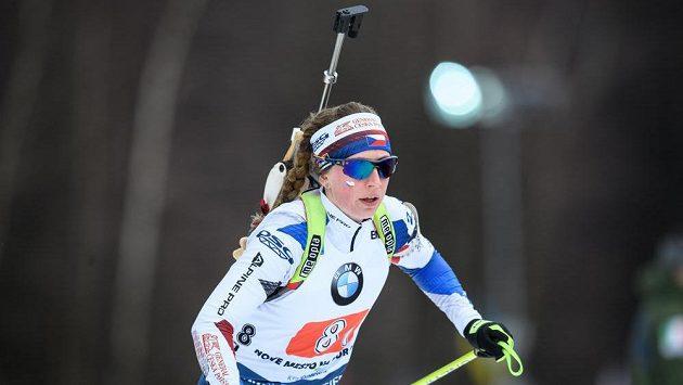Jessica Jislová během štafety v rámci Světového poháru v březnu v Novém Městě na Moravě.