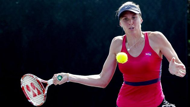 Česká tenistka Nicole Vaidišová na turnaji v Miami.