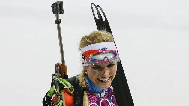 Radost ve tváři české biatlonistky Gabriely Soukalové