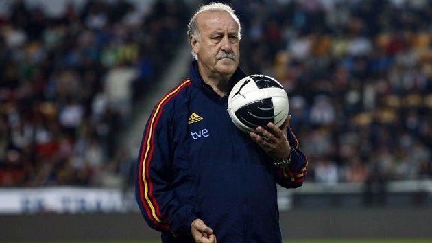 Španělský trenér Vicente Del Bosque na tréninku