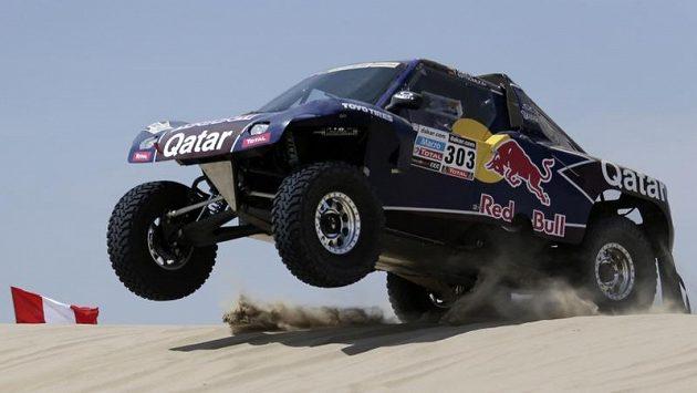 Španělský jezdec Carlos Sainz na Rallye Dakar 2013