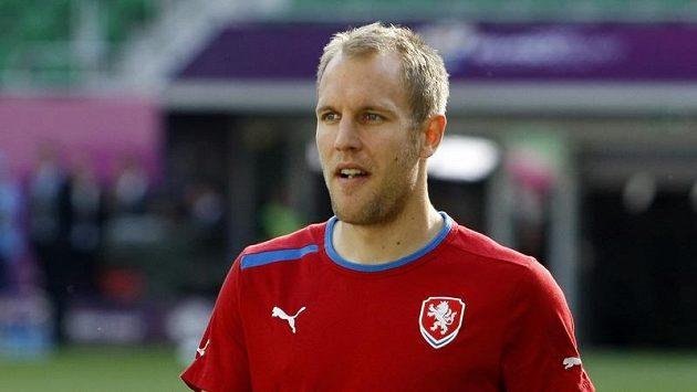 Daniel Kolář na tréninku fotbalové reprezentace.