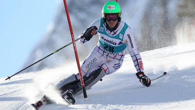 Kryštof Krýzl při slalomu v Adelbodenu.