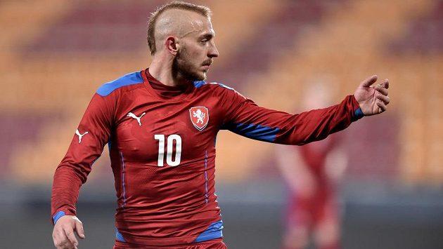 Jiří Skalák během přátelského utkání české jedenadvacítky s Anglií.