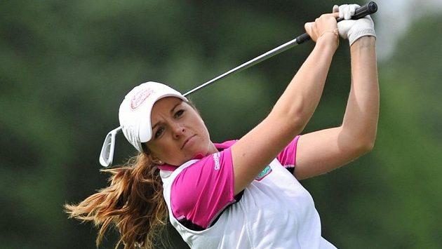 Karolína Vlčková při turnaji Tipsport Golf Masters série Ladies European Tour v Dýšině.