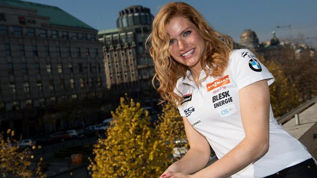 Gabriela Soukalová ve výborné náladě, dobrý signál před startem nové biatlonové sezóny.