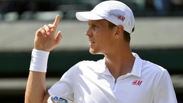 Tomáš Berdych ve Wimbledonu.