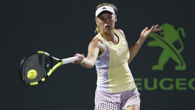 Caroline Wozniacká během turnaje v Miami.