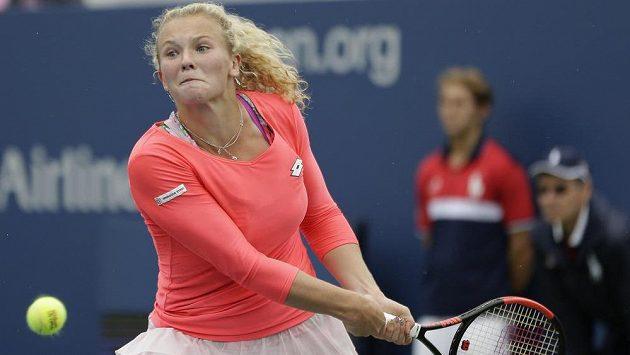 Kateřina Siniaková bude ve středu dohrávat svůj duel 1. kola.