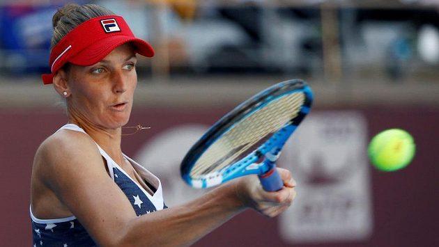 Karolína Plíšková na turnaji v Tchien-ťinu