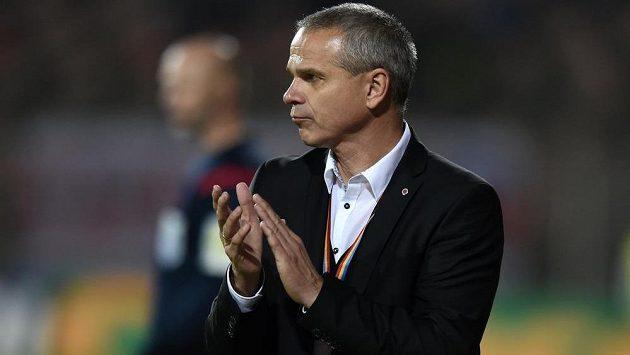 Trenér Sparty Vítězslav Lavička mohl být po zápase se Slovanem spokojený.