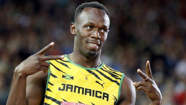 Světový rekordman na stovce i dvoustovce Usain Bolt