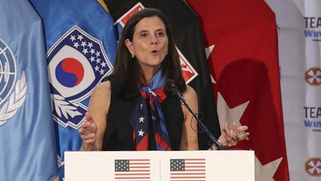 Již bývalá komisionářka NWSL Lisa Bairdová.