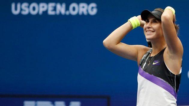 Belinda Bencicová na US Open v osmifinále porazila světovou jedničku.