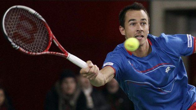 Český tenista Lukáš Rosol tentokrát přes Melzera nepřešel.