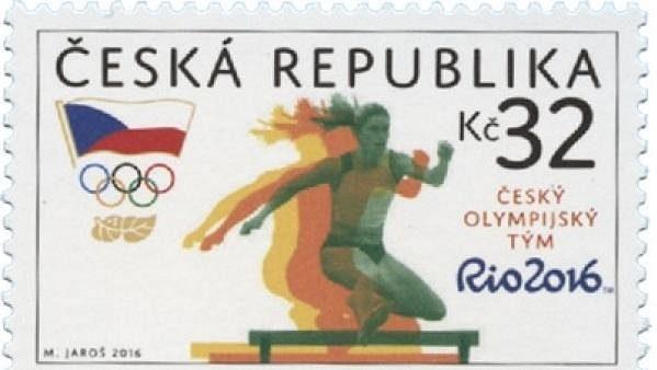 Známka České pošty s motivem OH 2016