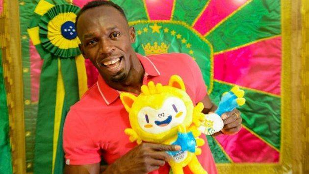 Jen jamajský sprintérský zázrak Usain Bolt se s olympijským maskotem zvěčnil.