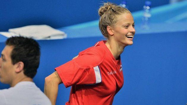 Simona Baumrtová na plaveckém MS v Barceloně.