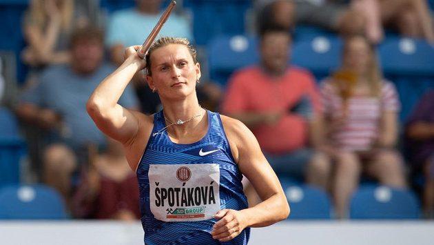 Oštěpařka Barbora Špotáková během atletického mítinku Zlatá tretra.