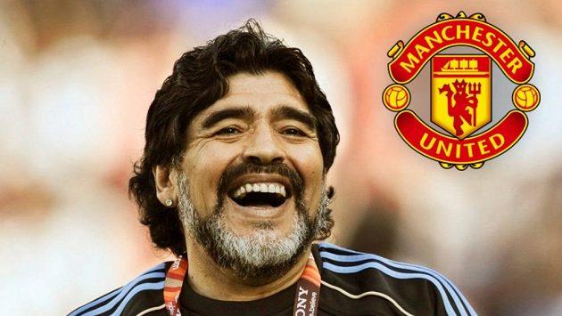 Legendární fotbalista Diego Maradona se v rozhovoru pro časopis FourFourTwo nechal slyšet, že jako trenér Manchesteru United by klubu pomohl znovu vyhrávat trofeje.