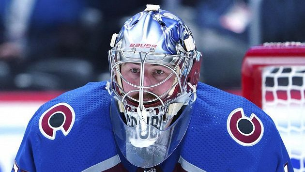 Philipp Grubauer se uchází o Vezinovu trofej pro nejlepšího brankáře základní části hokejové NHL.