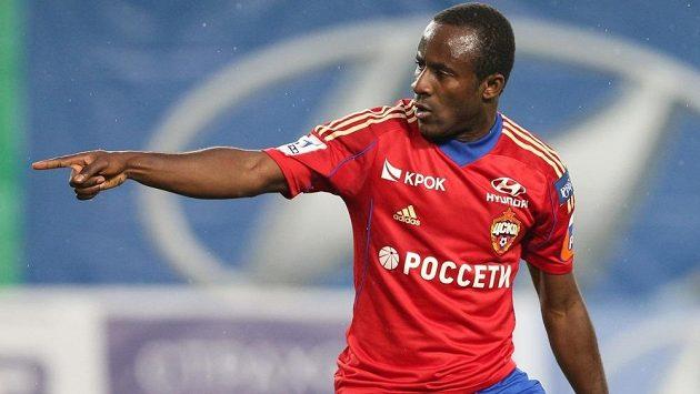 Útočník Seydou Doumbia v dresu CSKA Moskva.
