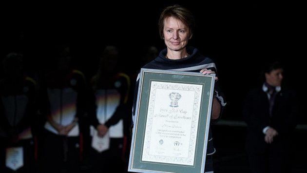 Oceněná Helena Suková před finále Fed Cupu.