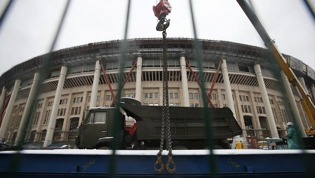 Moskevský stadión Lužniki momentálně prochází plánovanou rekonstrukcí.