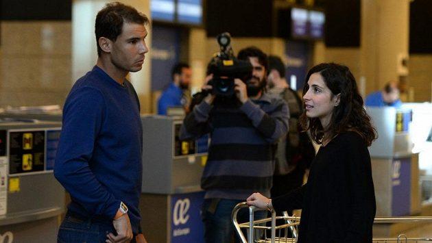Rafael Nadal s přítelkyní.