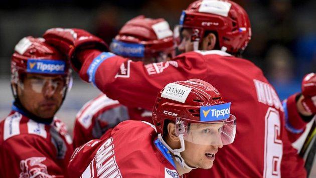 Gólová radost hokejistů Třince - ilustrační foto