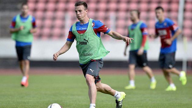 Vladimír Darida během tréninku české fotbalové reprezentace