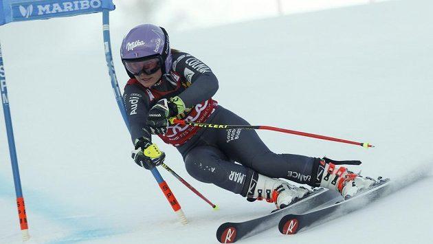 Tessa Worley během obřího slalomu v Mariboru.
