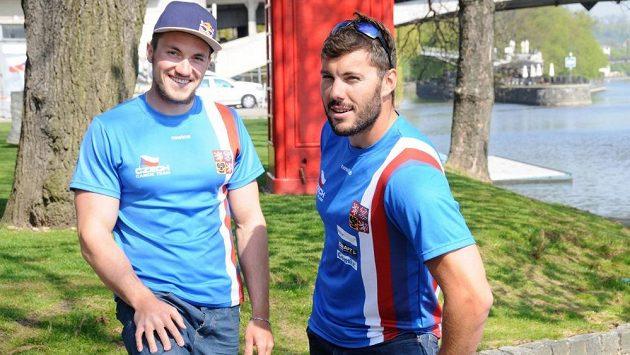Kajakář Josef Dostál (vpravo) a kanoista Martin Fuksa, dvě české naděje pro Evropské hry.