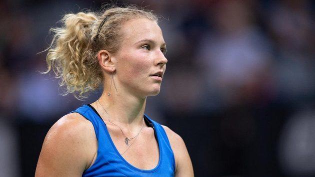 Kateřina Siniaková na archivním snímku z turnaje v Miami.