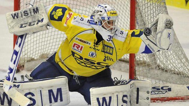 Zlínský brankář Libor Kašík svůj celek v utkání s Litvínovem několikrát podržel.