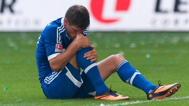 Zraněný kanonýr Klaas-Jan Huntelaar z Schalke 04.