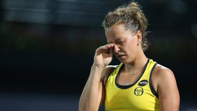 Smutná Barbora Strýcová - finále v Dubaji jí vůbec nevyšlo.