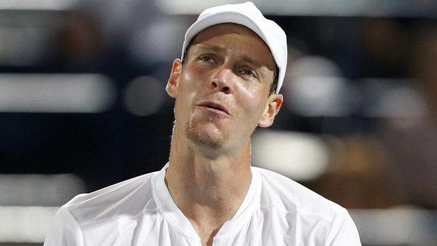 Český tenista Tomáš Berdych (na snímku) překvapivě podlehl v Indian Wells Španělu Bautistovi.