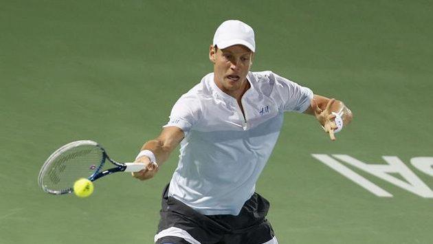 Tomáš Berdych ve finálovém utkání v Dubaji Rogera Federera nepřemohl.
