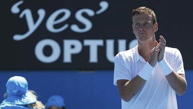 Český tenista Tomáš Berdych se utká s Rakušanem Melzerem.