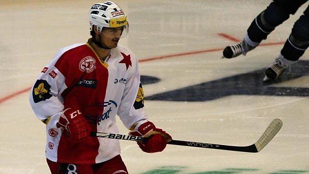 Posila hokejistů Slavie, útočník Jan Kolář.