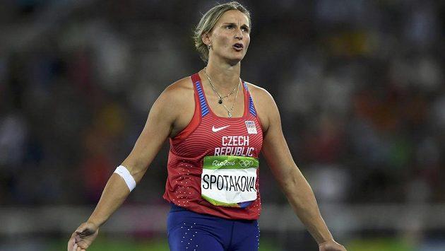 Oštěpařka Barbora Špotáková na snímku z OH v Riu.
