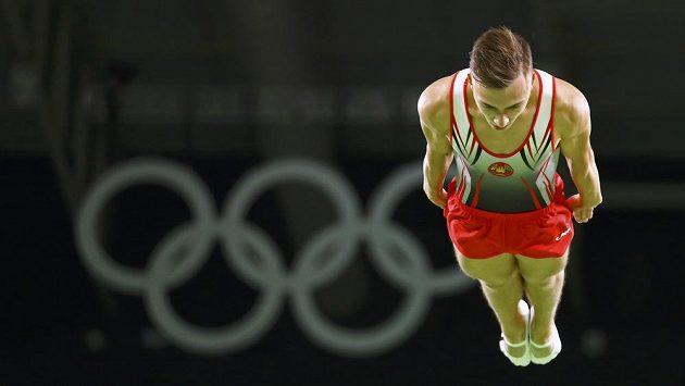 Běloruský reprezentant ve skoku na trampolíně Vladislav Gončarov