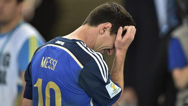 Argentinec Lionel Messi po finále MS s Německem.